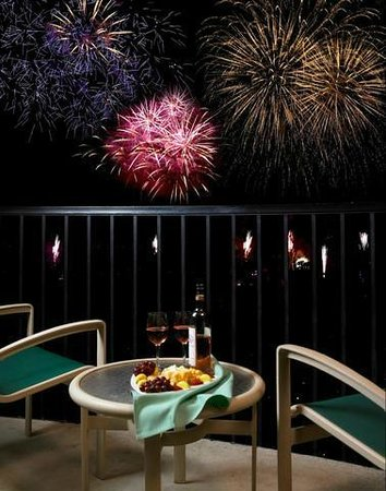 Sheraton Park Hotel at the Anaheim Resort: Disneyland Fireworks view from room