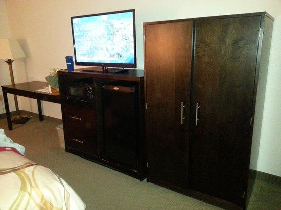 Eagles Nest Inn: Flat screen tv with Direct TV service, Fridge, Micro, Wardrobe