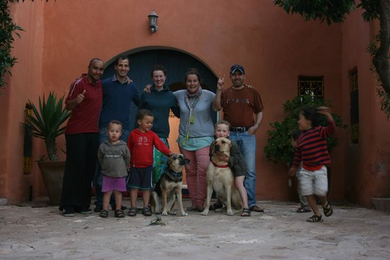 Riad Baoussala : Entrée devant donnant sur le patio