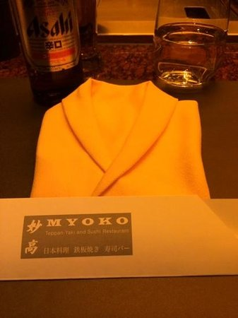 Myoko: novel napkins!