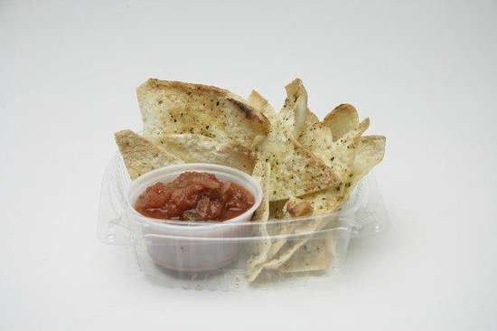 Badass Jack's Subs & Wraps Co: Pita chips and Salsa