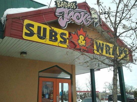 Badass Jack's Subs & Wraps Co: Enterance