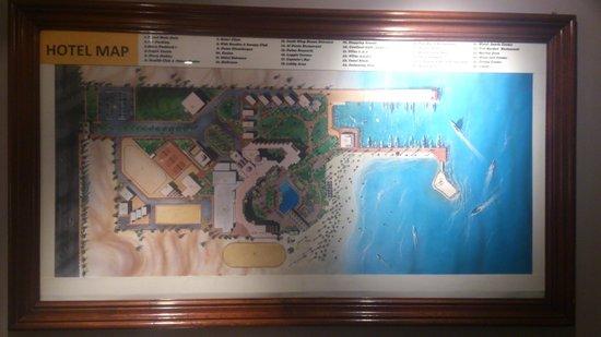 Mövenpick Resort Hurghada : Карта отеля в отеле