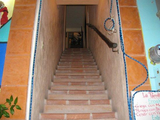 La Parrilla de Juan : Stairs to get to restaurant.