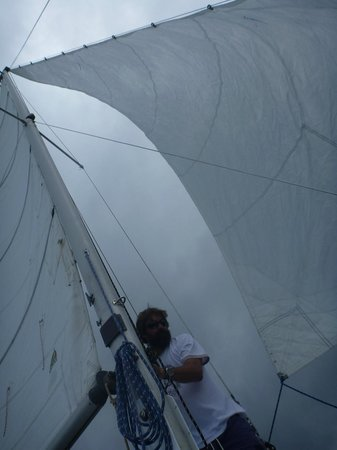 Daytripper Catamaran Charters: Storm coming - time to move the boat