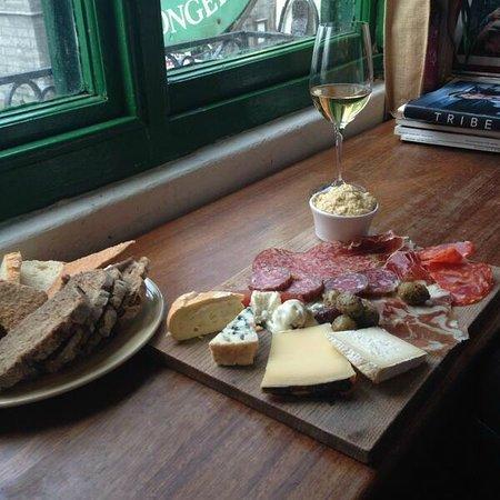 Sheridans Cheesemongers: Cheese and meat board. Yum.