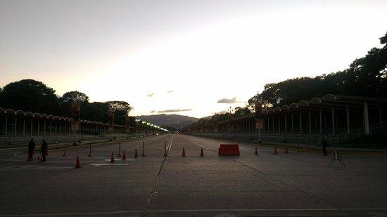Paseo de Los Próceres: vista del area de desfiles