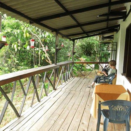 Hotel Minca: The verandah of hummingbirds