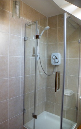 Mavisburn Bed & Breakfast: Single room shower