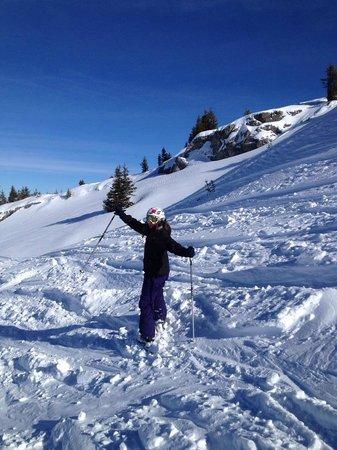Mountain Lodge: Loving the off piste!