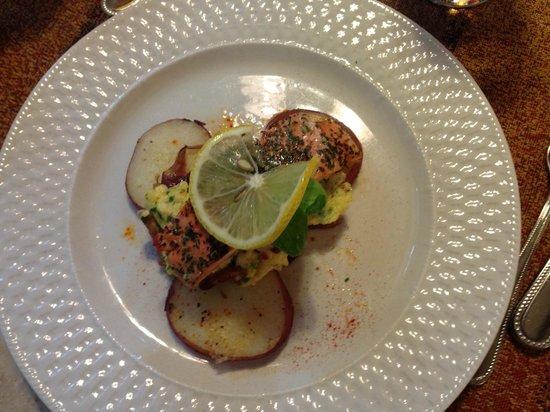Inn on the Hill : Breakfast of fish
