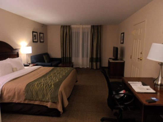 Comfort Inn & Suites South Burlington: Lit King 4ieme étage