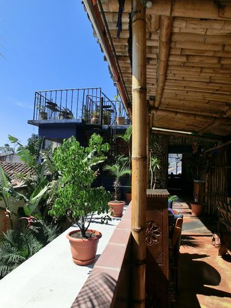 Cafe Sky: View up to the roof terrace