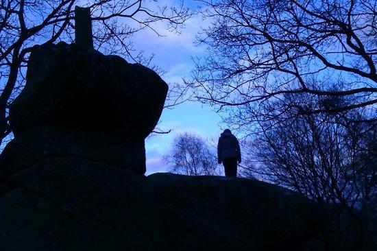 Druids Caves: Top of druids rocks