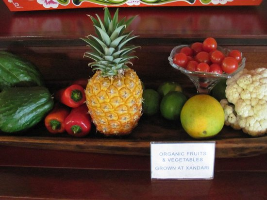 Xandari Resort & Spa: Organic food from their orchard
