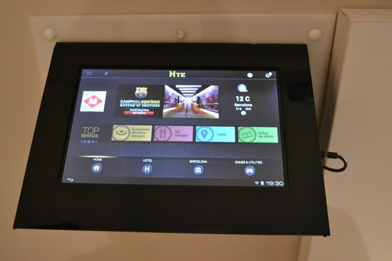 Hostemplo Sagrada Familia: La tablette tactile