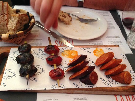 Tapas Brindisa London Bridge : Chorizo Board - House Speciality