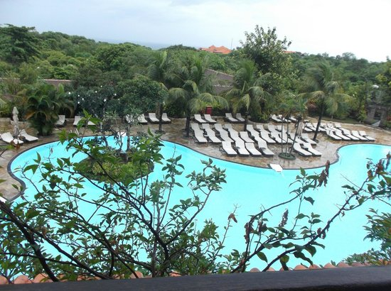 Swiss-Belhotel Segara Resort & Spa: view from 3rd floor superior pool view room