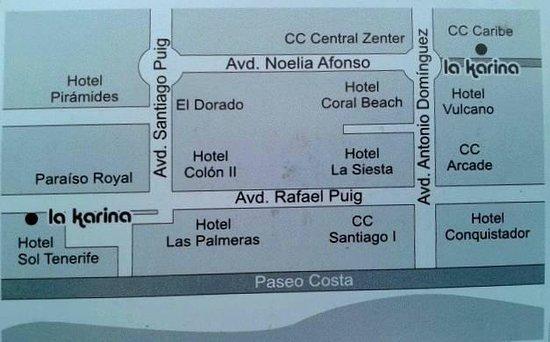Ristorante La Karina II: La Karina 2 Tenerife next to Hotel Vulcano. On tripadvisor map it's not placed corectly.