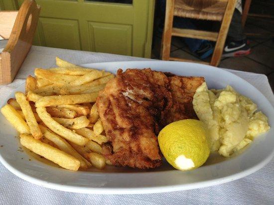 Maro's Taverna: filet de poisson en beignet