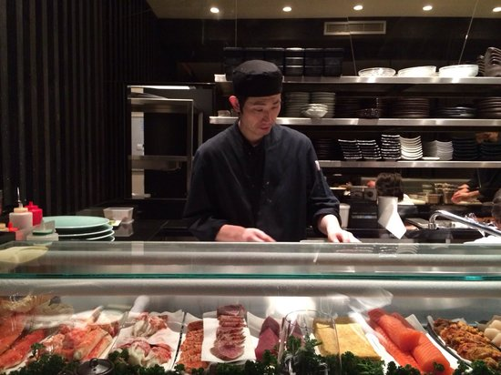 Kinugawa Vendôme : Don't sit at sushi bar as the chair is uncomfortable, book a table instead