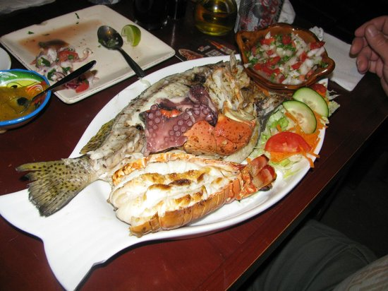 Viva Zapata: seafood platter for one