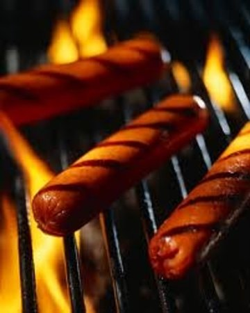 Garth Bar & Grill: Choose from three different flamegrilled hotdogs