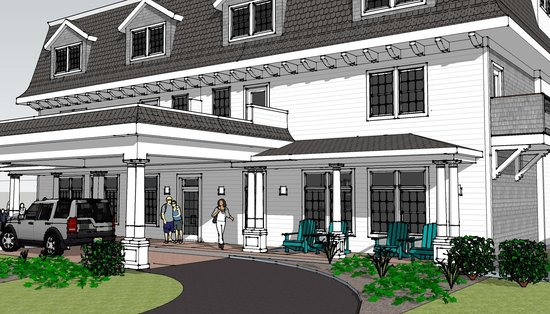 Artist rendering of The Break, a Narragansett hotel