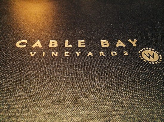 Cable Bay Vineyards Winery and Restaurant: Delicious menu