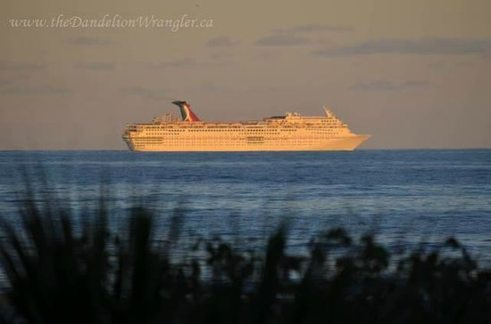 La Quinta Inn & Suites Cocoa Beach Oceanfront: You can watch the cruise ship sail away from your balcony