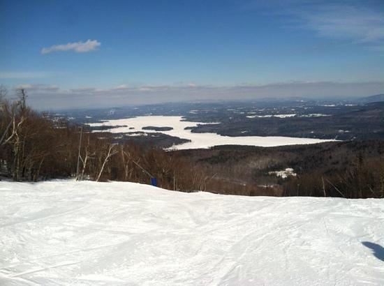 Mount Sunapee State Park and Ski Area: Frozen lake Sunapee
