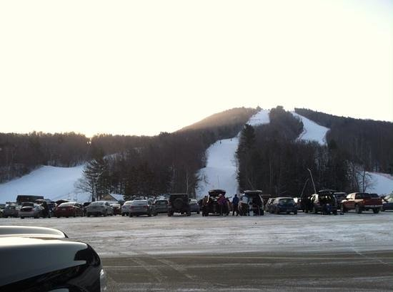 Mount Sunapee State Park and Ski Area: The sun coming up at 7:45AM