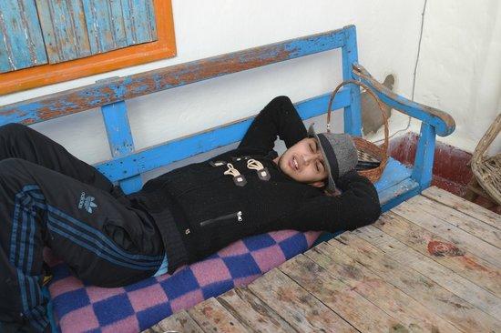 Green Milk Hostel: Abdul working hard!