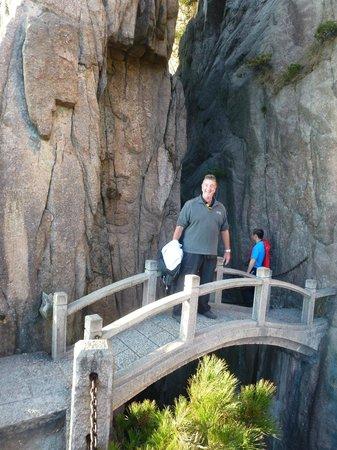 China Culture Tour: Bridge crossing at Yellow Mountain
