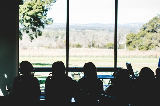 Heart of Texas Wine Tours : The view from William-Chris tasting room