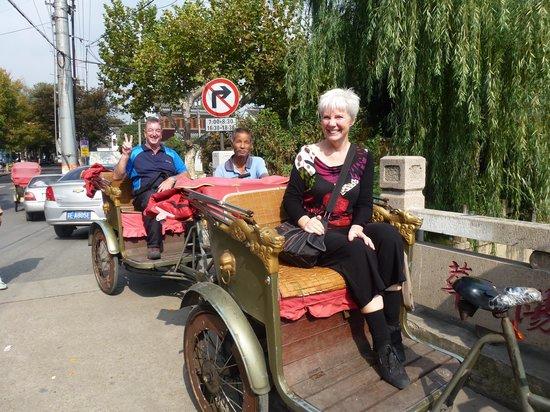 China Culture Tour: Rickshaw ride in Suzhou