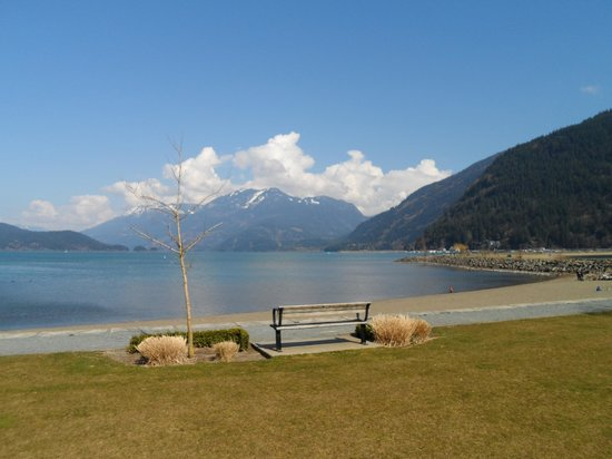 Harrison Hot Springs Resort & Spa: Harrison Lake, right in front of the resort