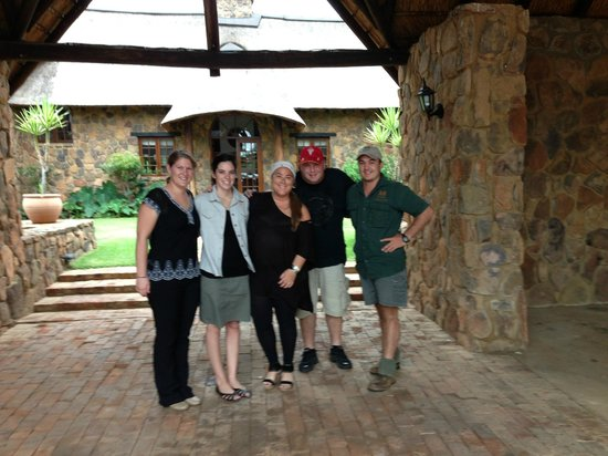Jembisa Bush Home: Me and my husband with The incredible staff... They were all amazing!!!