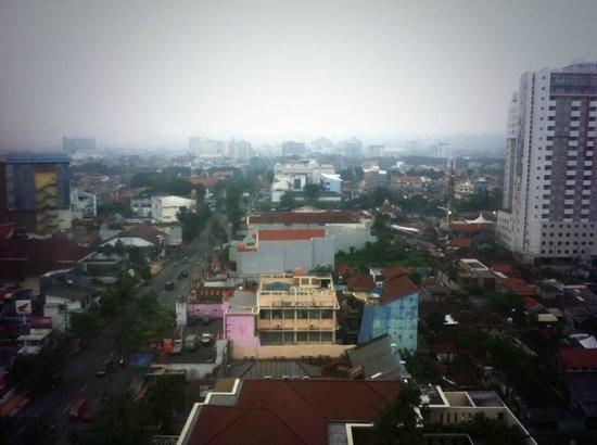 Gumaya Tower Hotel Semarang: view from 1206
