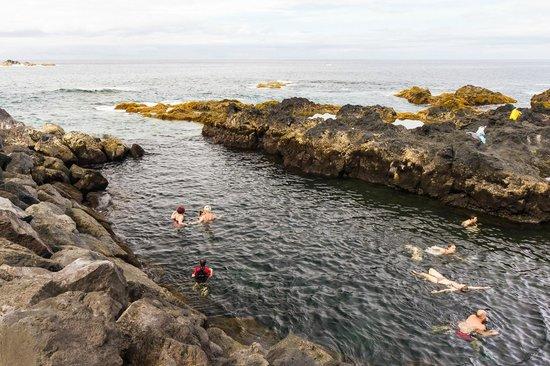 Ponta Delgada, Portekiz: Ponta Da Ferraria - geothermal hot ocean cove