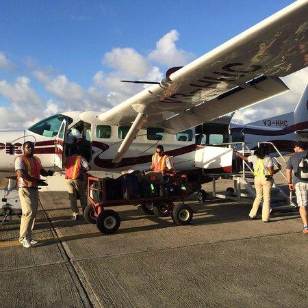 Yok Ha Resort: The hopper flight you take from Belize City to Dangriga