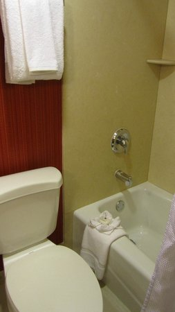 Crowne Plaza Palo Alto: Our second room's bathroom