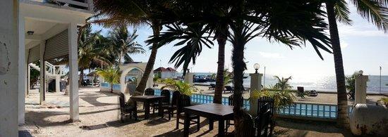 Corona del Mar Hotel & Apartments: Ausblick auf den Strand