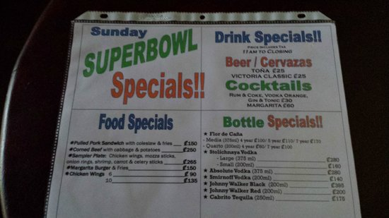 Margarita Bar & Grill: Specials!