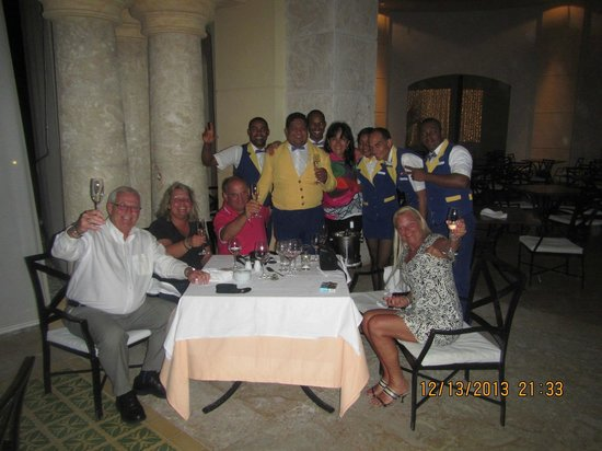 Iberostar Grand Hotel Bavaro: Nathaniel, and waiters and other friends