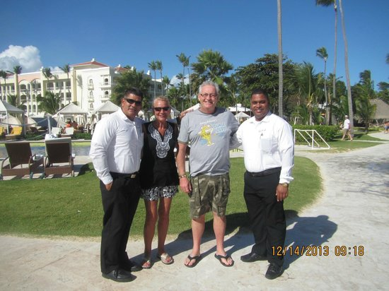 Iberostar Grand Hotel Bavaro: Dir. Adirano, and his assistant of security
