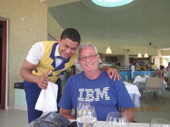 Iberostar Grand Hotel Bavaro: Joël, waiter at buffet on beach