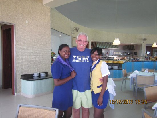 Iberostar Grand Hotel Bavaro: Two waitress at the beach buffet
