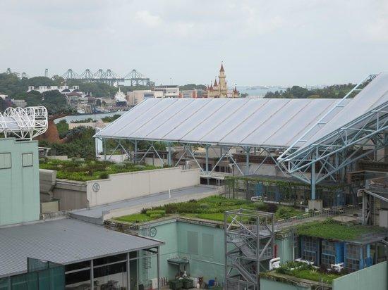 Resorts World Sentosa - Hotel Michael: View of Universal Studio Singapore from balcony