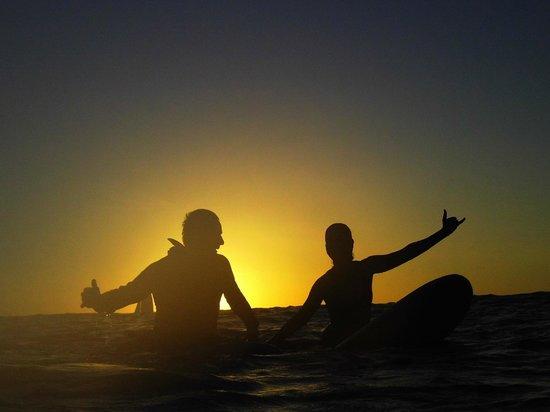 Pablo Surf School: Sunset